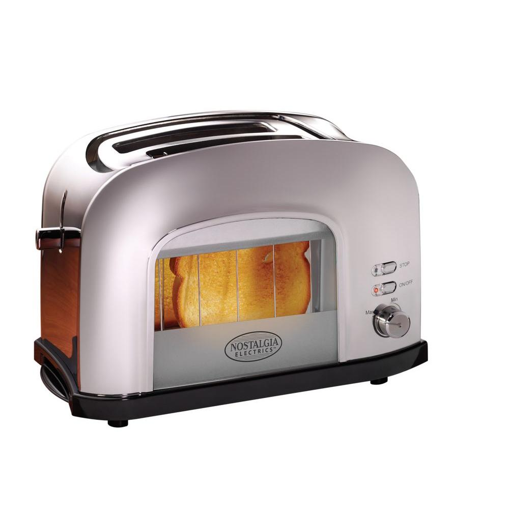 Nostalgia Electrics Retro Series 2-Slice Window Toaster in Chrome-DISCONTINUED