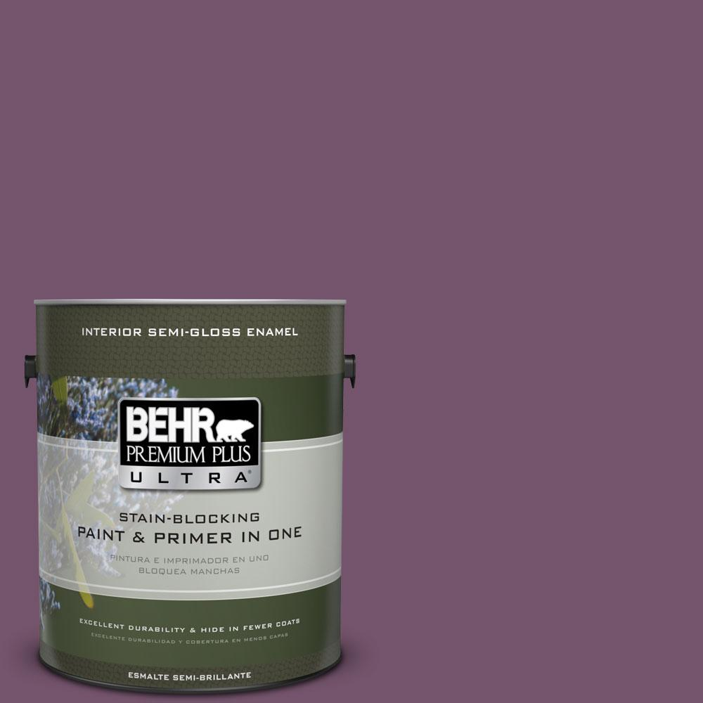 1-gal. #PMD-87 Exotic Orchid Semi-Gloss Enamel Interior Paint