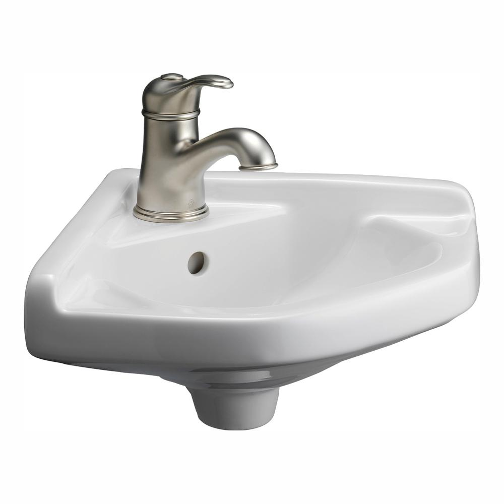 barclay products corner wall-mounted bathroom sink in white-4-750wh - the home depot