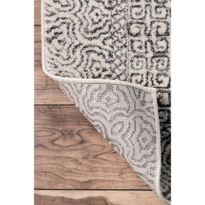 Mozaik Tribal Light Gray 10 ft. x 14 ft. Area Rug