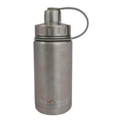 13 oz. Twist Triple Insulated Bottle with Screw Cap - Silver Express