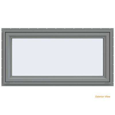 47.5 in. x 23.5 in. V-4500 Series Gray Painted Vinyl Awning Window with Fiberglass Mesh Screen