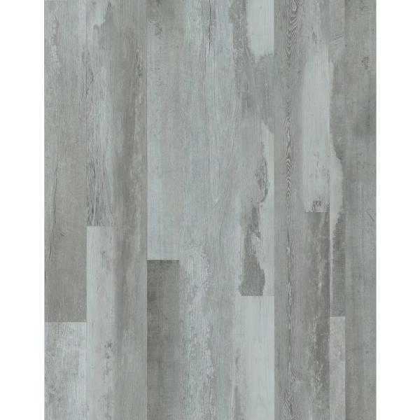 Arctic Distressed Wood 7 in. x 48 in. Peel and Stick Wall and Floor Luxury Vinyl Planks (23.33 sq. ft. per case)