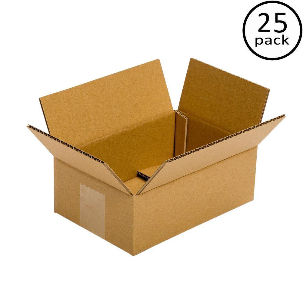 Plain Brown Box 9 in. x 6 in. x 4 in. 25-Box Bundle