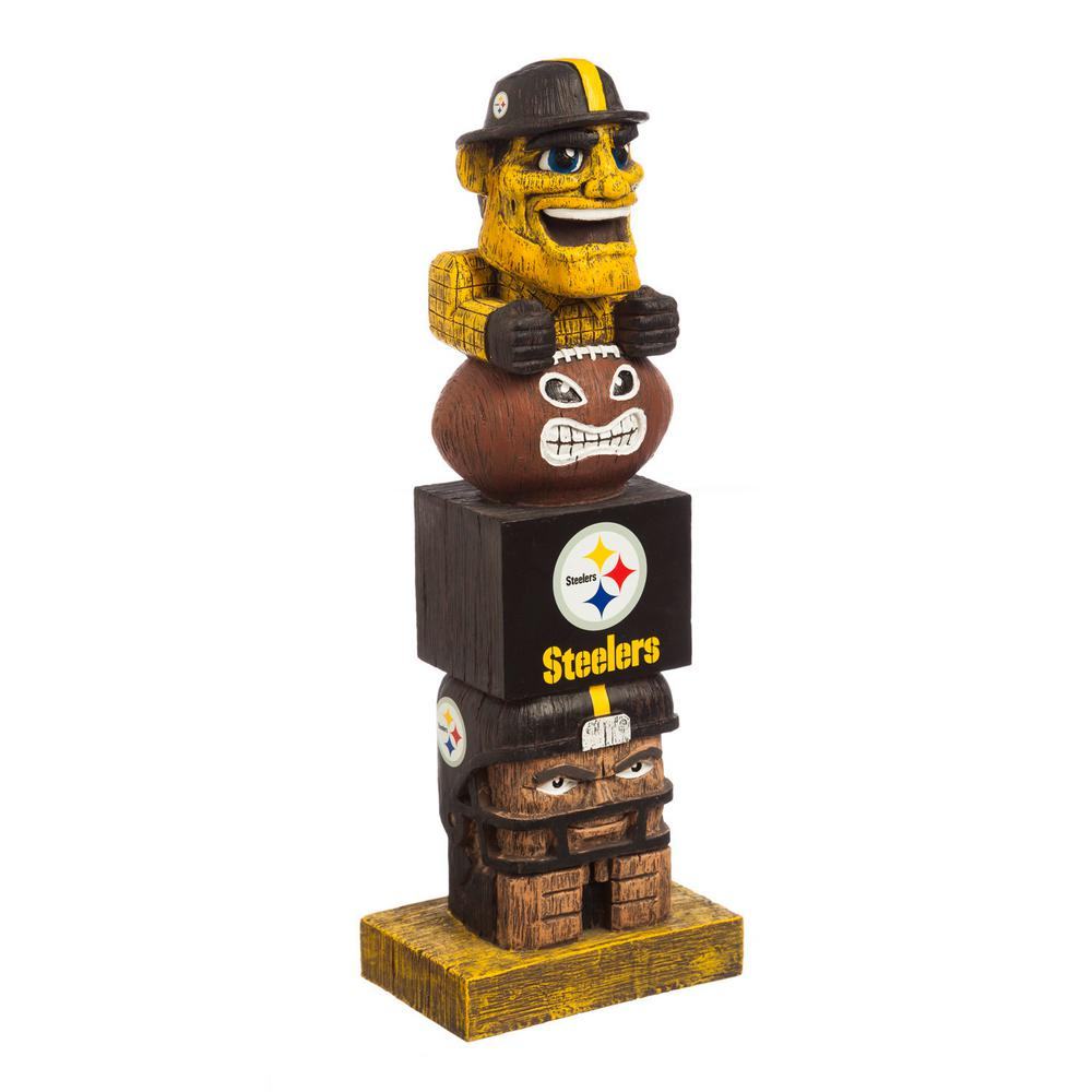 Evergreen Pittsburgh Steelers Tiki Totem Garden Statue