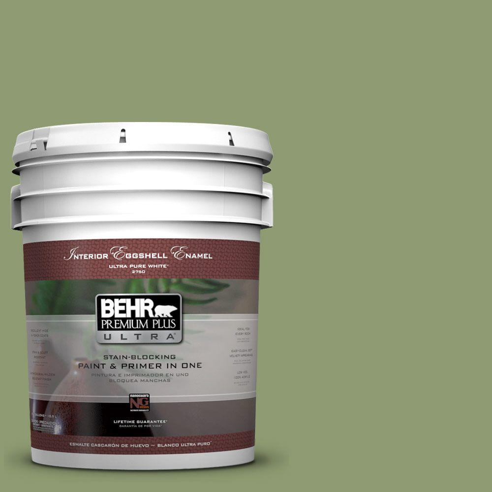 BEHR Premium Plus Ultra 5-gal. #PPU11-4 Alamosa Green Eggshell Enamel Interior Paint