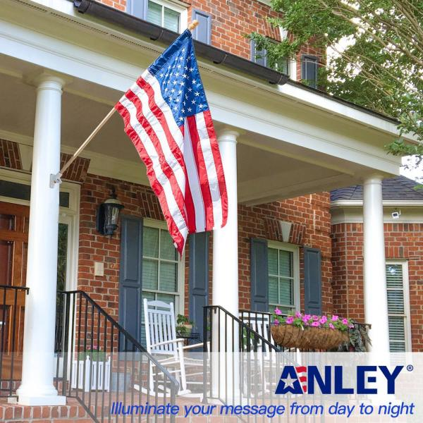 Anley 56 In Pine Wooden House Flag Pole For Sleeve House Flag 28 In X 40 In Tangle Free Design Rotating Ring Anti Wrap Tube A Flagpole House Wooden The Home Depot