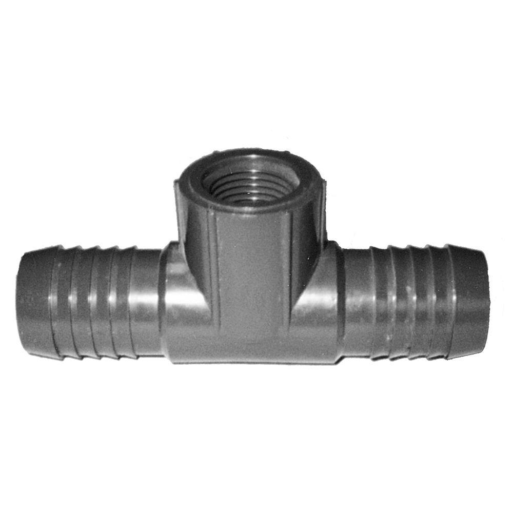 Contractor's Choice 1 in. x 1 in. x 1/2 in. PVC Combination/Reducing Tee