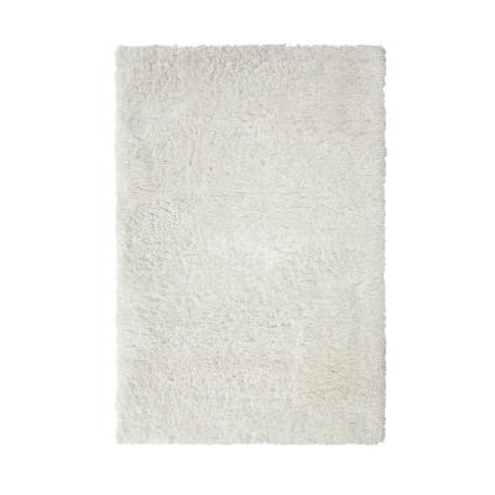 SAMS GOLD IMPORTS Cozy Shag White 8 ft. x 10 ft. Area Rug