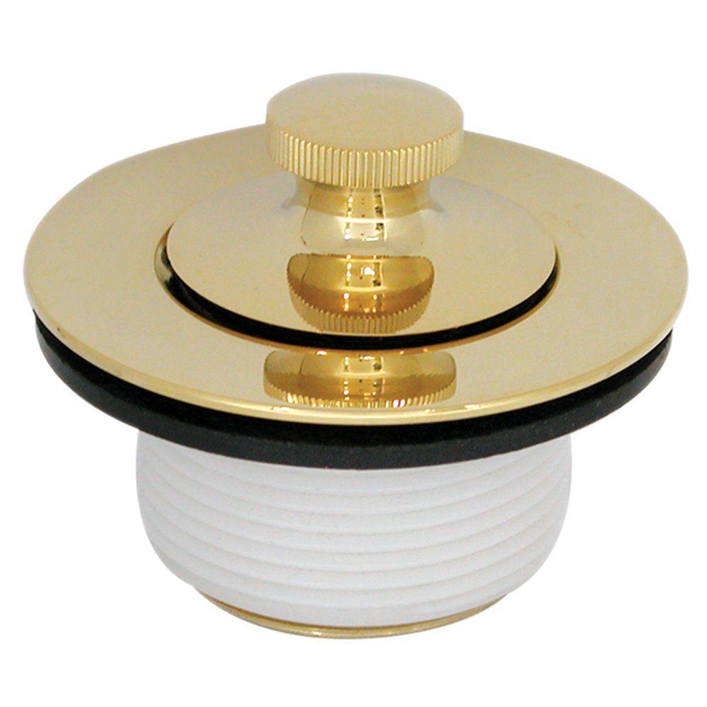 DANCO Polished Brass Twist 'N Close PVD Trim Kit in Polished Brass