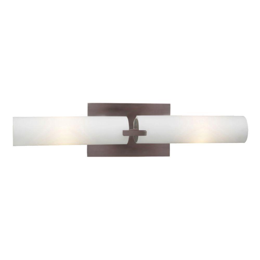 Illumine Contemporary Beauty 2-Light Oil-Rubbed Bronze Incandescent Bath Vanity Light