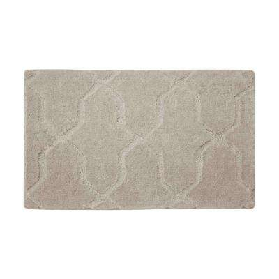 Pearl Drona Cream Puff 17 in. x 24 in. Bath Mat