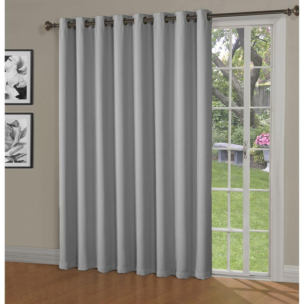 Bella Luna Blackout Maya Woven Blackout 108 In W X 84 In L Grommet Extra Wide Patio Door