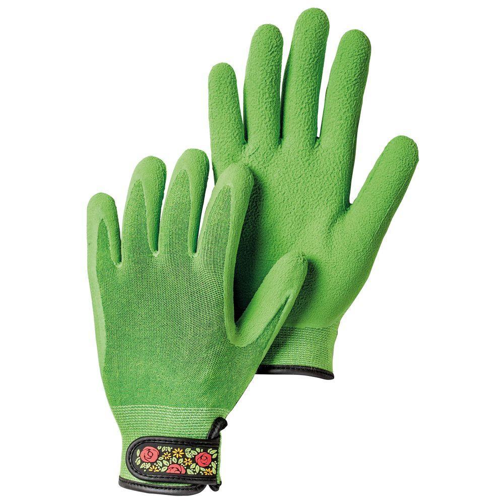 Large Green Bamboo Spandex Gardening Gloves