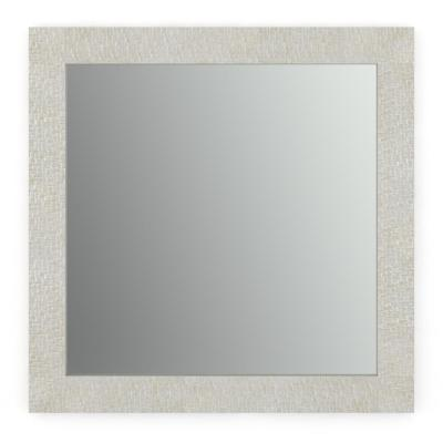 33 in. W x 33 in. H (L2) Framed Square Standard Glass Bathroom Vanity Mirror in Stone Mosaic