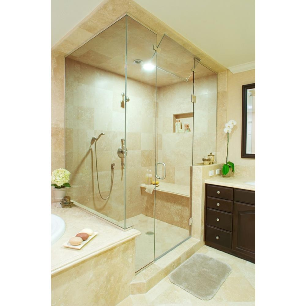 The Home Depot Installed Custom Frameless Shower Doors Add a personalized touch to your bathroom with a Frameless Custom Installed Shower Door from the Home Depot. Available in a variety of patterns and classic finishes, our designs are manufactured to complement your home and accommodate bathrooms of all sizes. Choose the options that best fit your taste, and let our team take care of the installation and clean up.