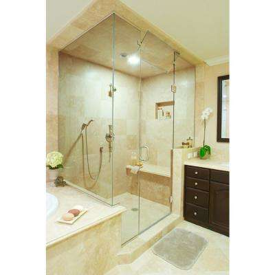 Installed Custom Frameless Shower Doors