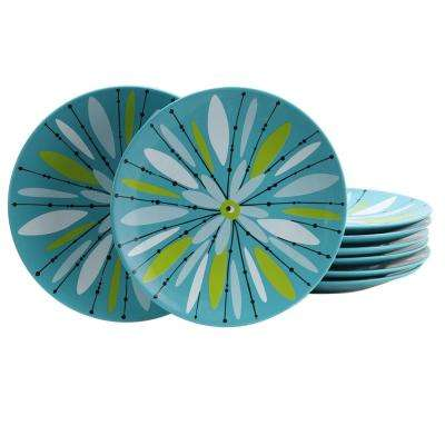 Nordic Cool Anza Blue Dessert Plate (Set of 8)
