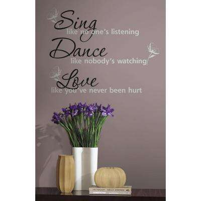 Dance, Sing, Love Peel and Stick 16-Piece Wall Decals