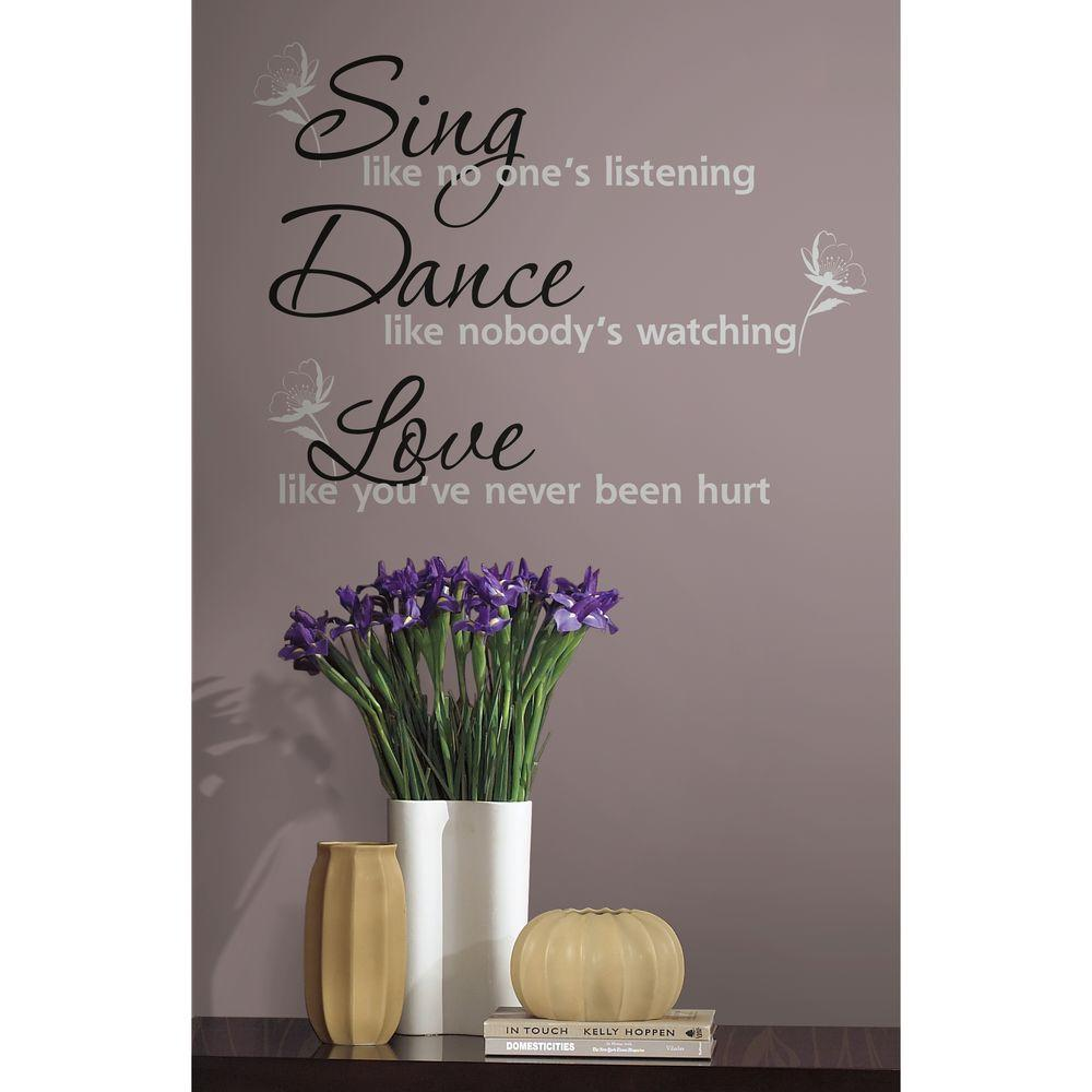 null Dance, Sing, Love Peel and Stick 16-Piece Wall Decals