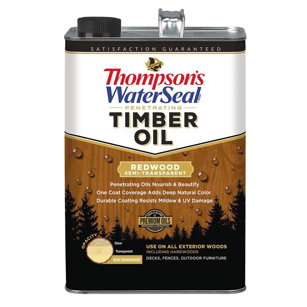 1 gal. Semi-Transparent Redwood Penetrating Timber Exterior (4-Pack)