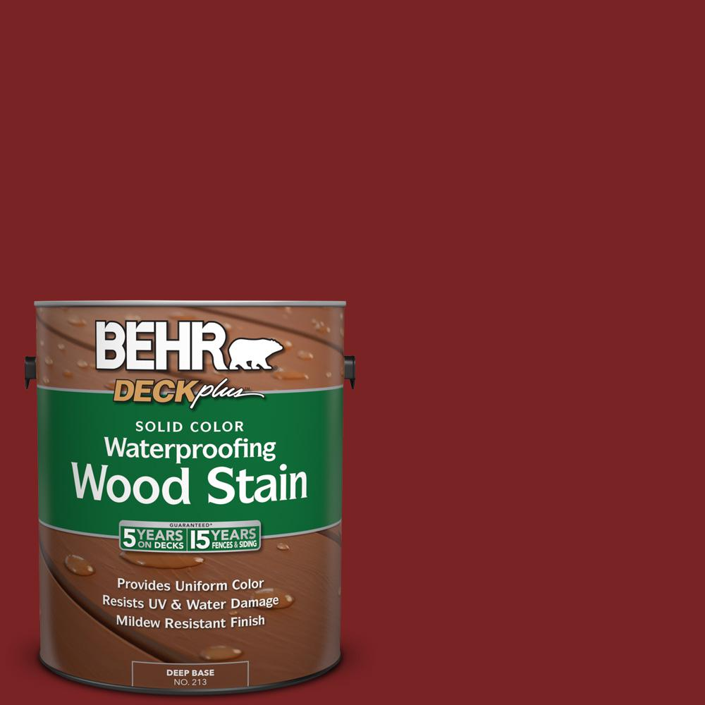 Sc 112 Barn Red Solid Color Waterproofing Exterior Wood Stain