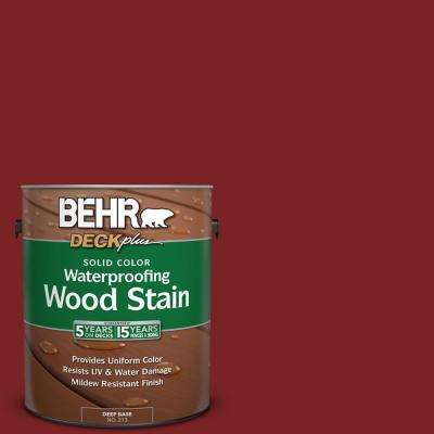 1 gal. #SC-112 Barn Red Solid Color Waterproofing Exterior Wood Stain