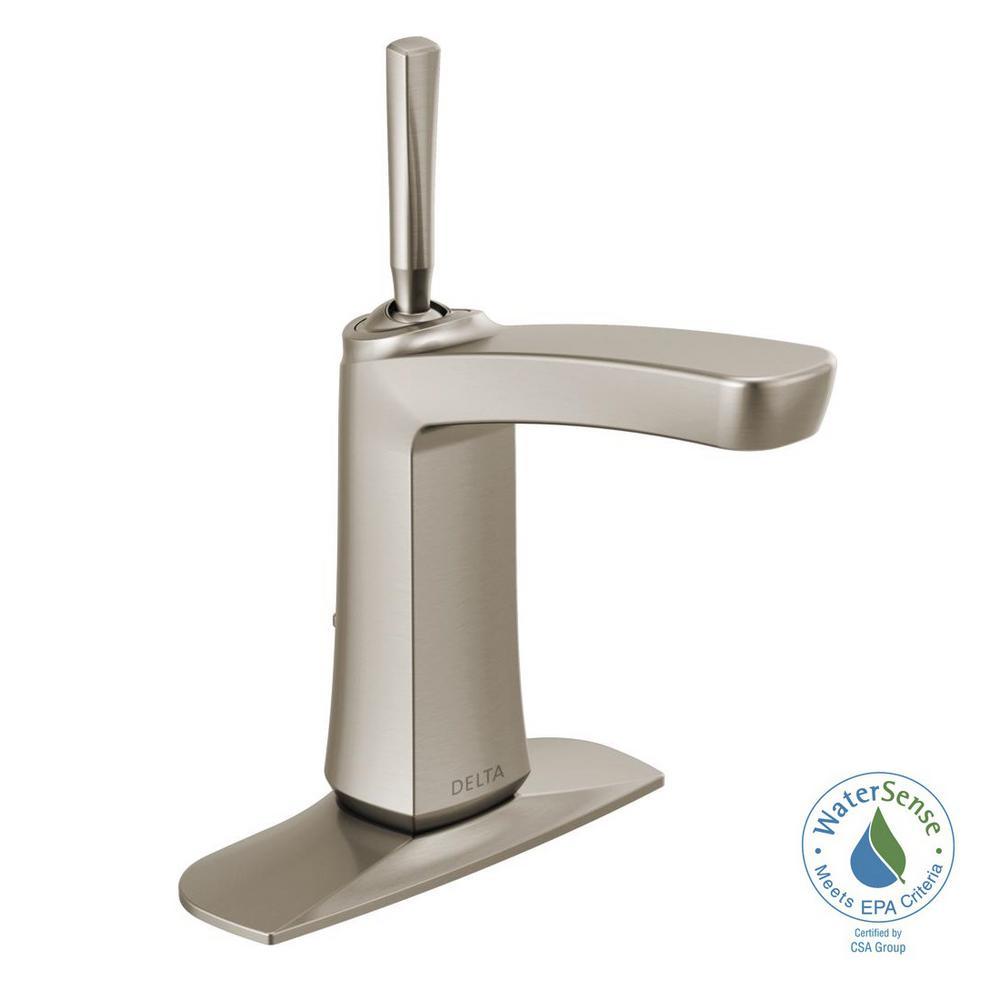 delta vesna 4 in centerset single handle bathroom faucet in rh homedepot com Brushed Nickel Kitchen Faucet Lowe's Bathroom Faucets