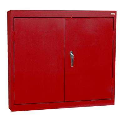30 in. H x 30 in. W x 12 in. D Wall Cabinet in Red