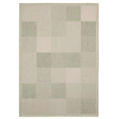 Augusta Grand Anse Green 7 ft. 10 in. x 10 ft. 6 in. Indoor/Outdoor Area Rug