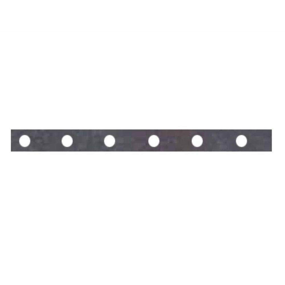 null 12 in. L x 1 in. W x 1/4 in. D Perforated Steel Straps