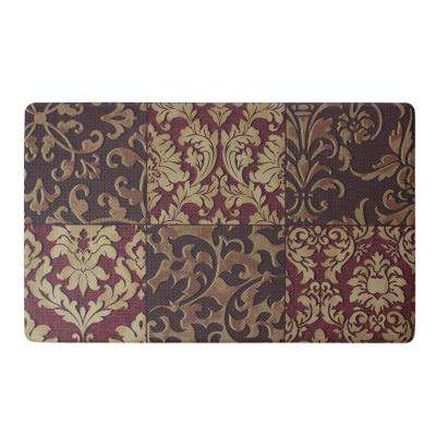 Gianno 24 in. x 36 in. Basket Weave Printed Anti-Fatigue Kitchen Mat