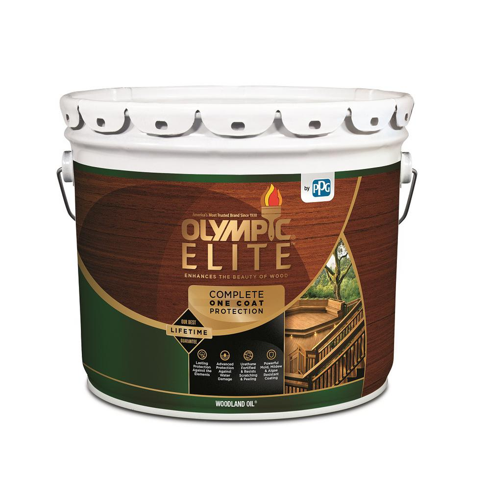 Olympic elite 3 gal mountain cedar woodland oil - Home depot exterior paint color chart ...