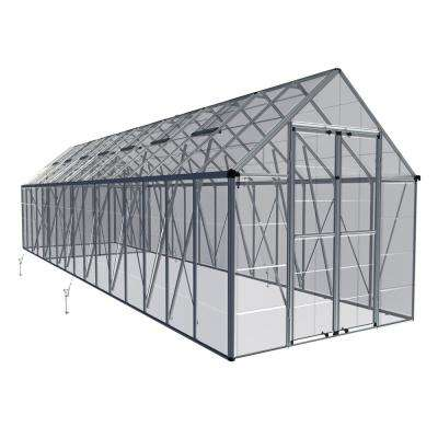 Snap and Grow 8 ft. x 32 ft. Silver Polycarbonate Greenhouse