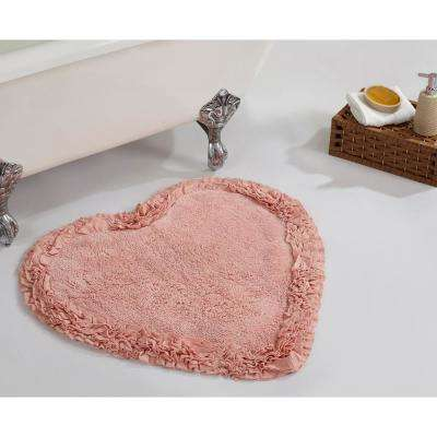 Ruffle Pink 30 in. x 30 in. Cotton Bath Rug