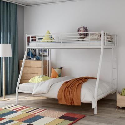 White Twin Over Full Solid Metal Bunk Bed