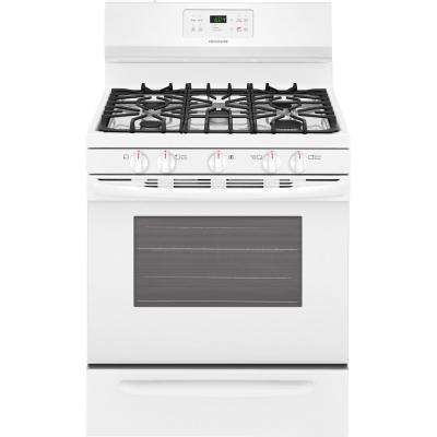 30 in. 5.0 cu. ft. Gas Range with Self-Cleaning Oven in White