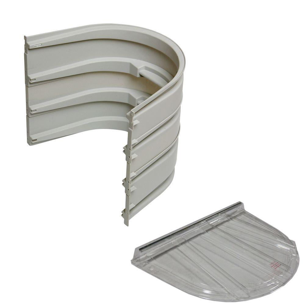5600 3-Sections 092 Gray Egress Well with Flat Polycarbonate Cover Bundle