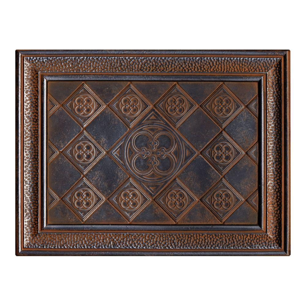 expo castle metals 12 in x 16 in wrought iron metal clover mural wall tile cm021216deco1p. Black Bedroom Furniture Sets. Home Design Ideas