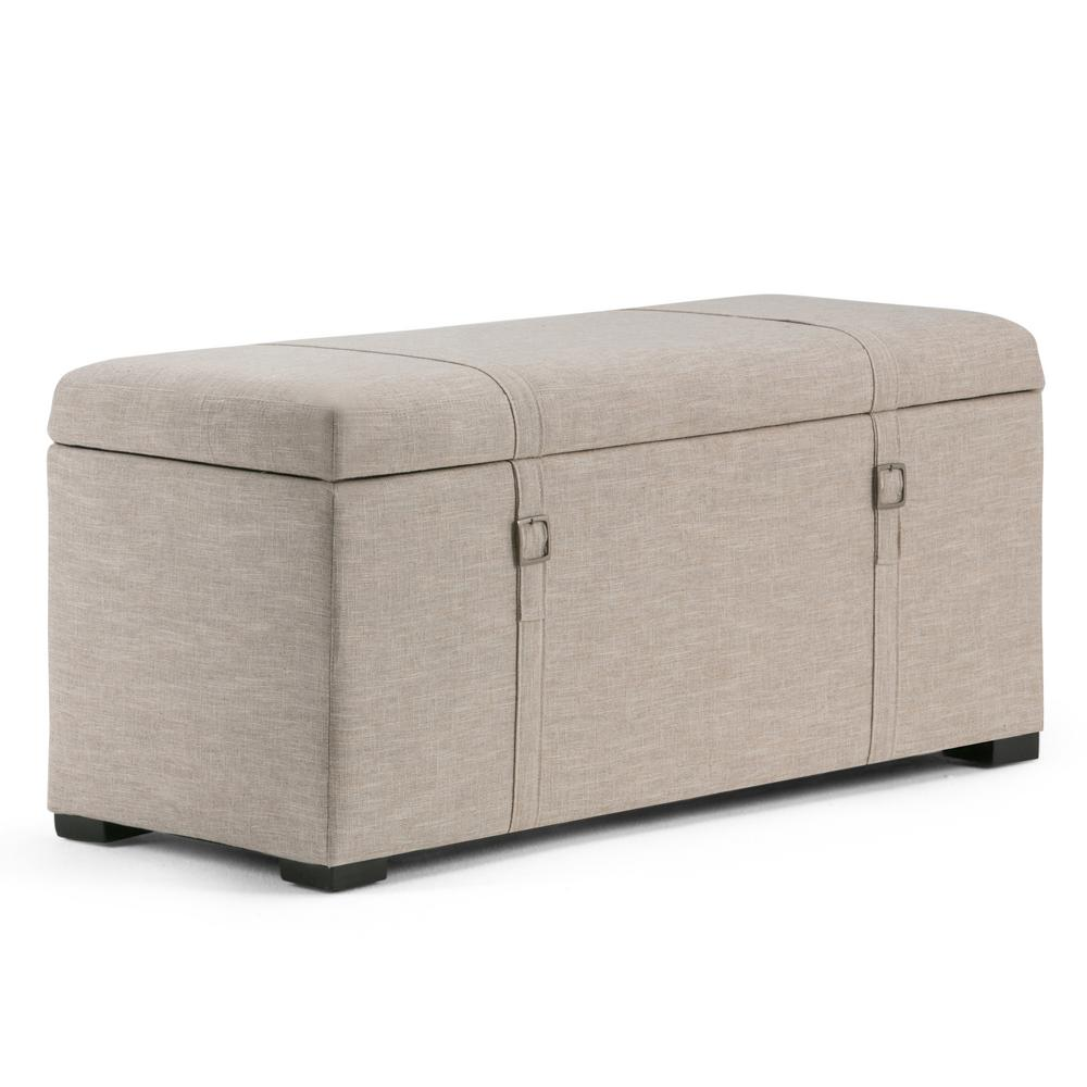 Simpli Home Dorchester Natural Storage Bench 3axcot 244 Nl