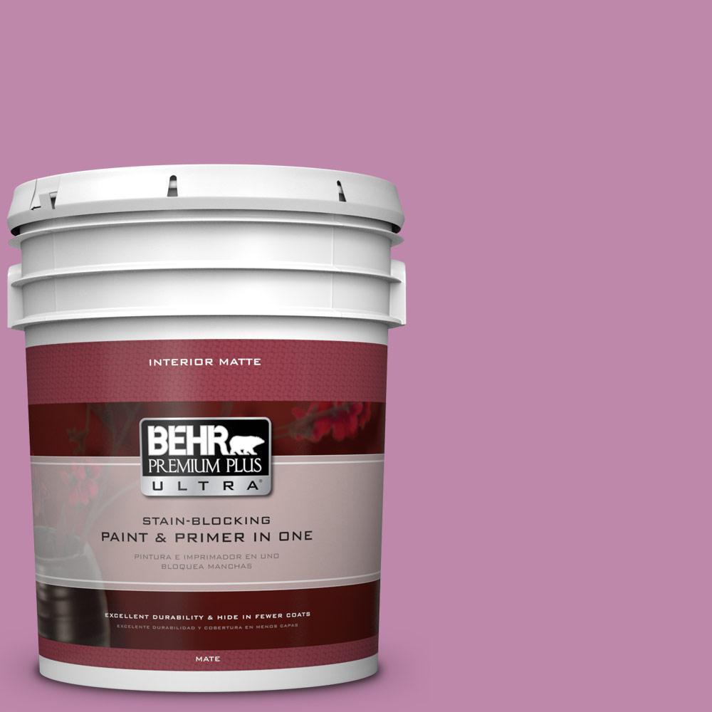 5 gal. #M120-5 Rosy Matte Interior Paint