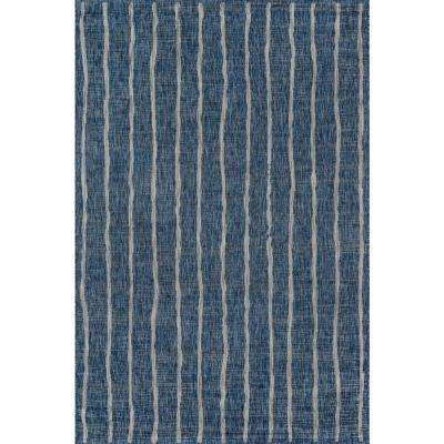 Sicily Blue 9 ft. 3 in. x 12 ft. 6 in. Indoor/Outdoor Area Rug