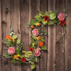 National Tree Company 5 ft. Spring Flower Garland