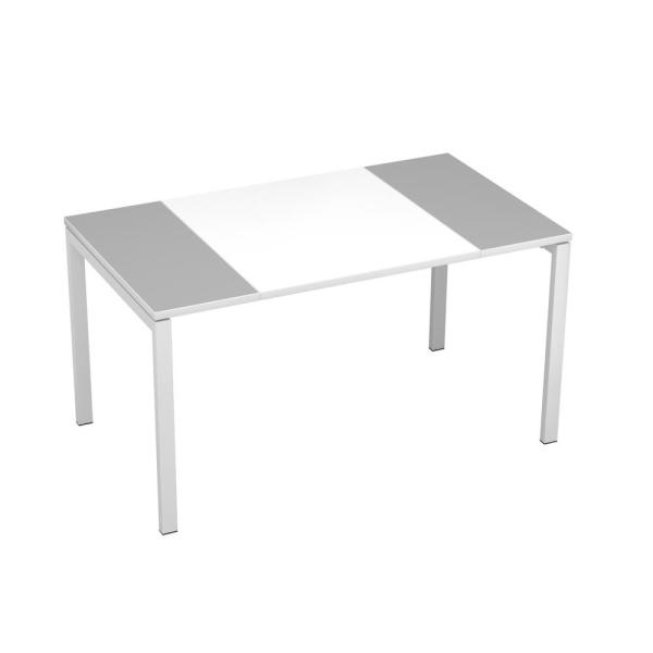 Paperflow easyDesk White Middle with Gray Ends 55 in. Long Training