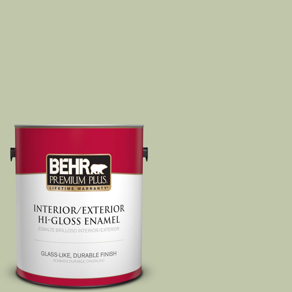 1 gal. #PPU10-08 Minted Lemon Hi-Gloss Enamel Interior/Exterior Paint