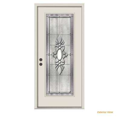 36 in. x 80 in. Full Lite Langford Primed Steel Prehung Right-Hand Inswing Front Door w/Brickmould