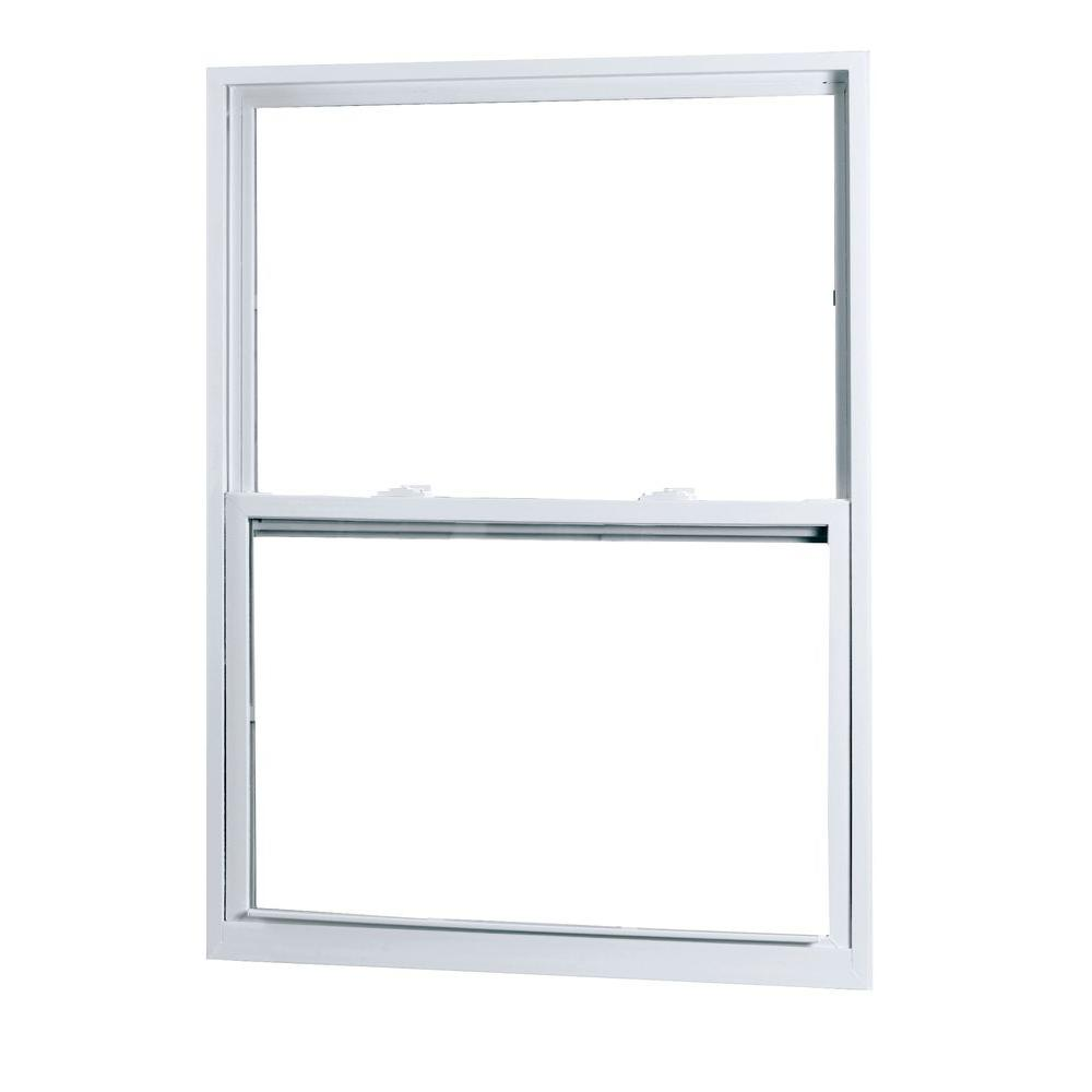 American Craftsman 28 in. x 38 in. 50 Series Single Hung White Vinyl Window with Buck Frame