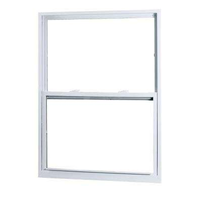 28 in. x 54 in. 50 Series Single Hung White Vinyl Window with Buck Frame