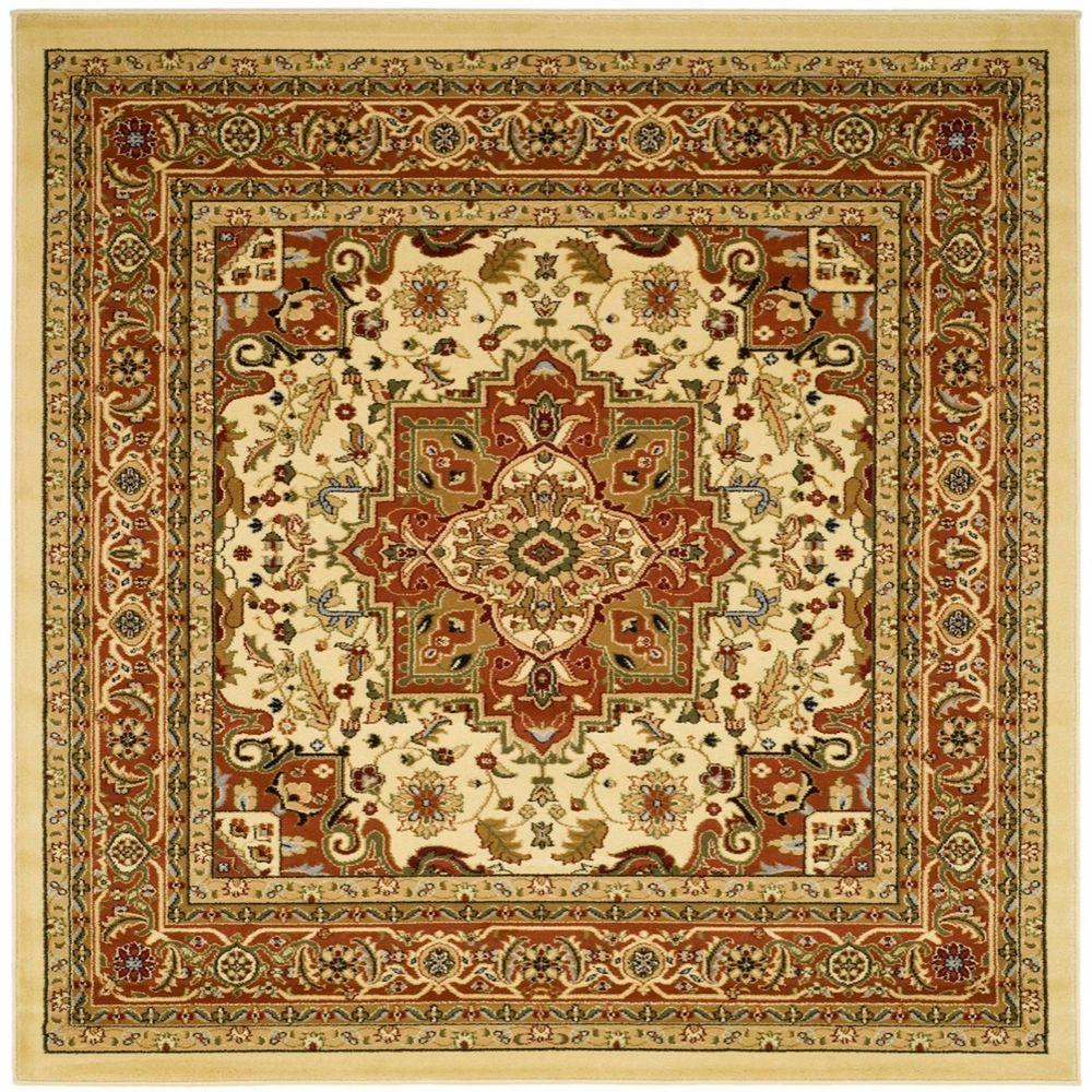 Safavieh Lyndhurst Ivory Rust 10 Ft X 10 Ft Square Area