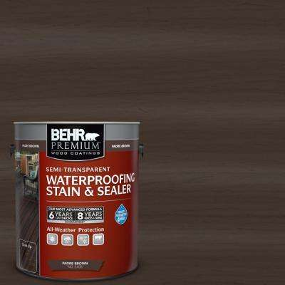 1 gal. #ST-105 Padre Brown Semi-Transparent Waterproofing Exterior Wood Stain and Sealer